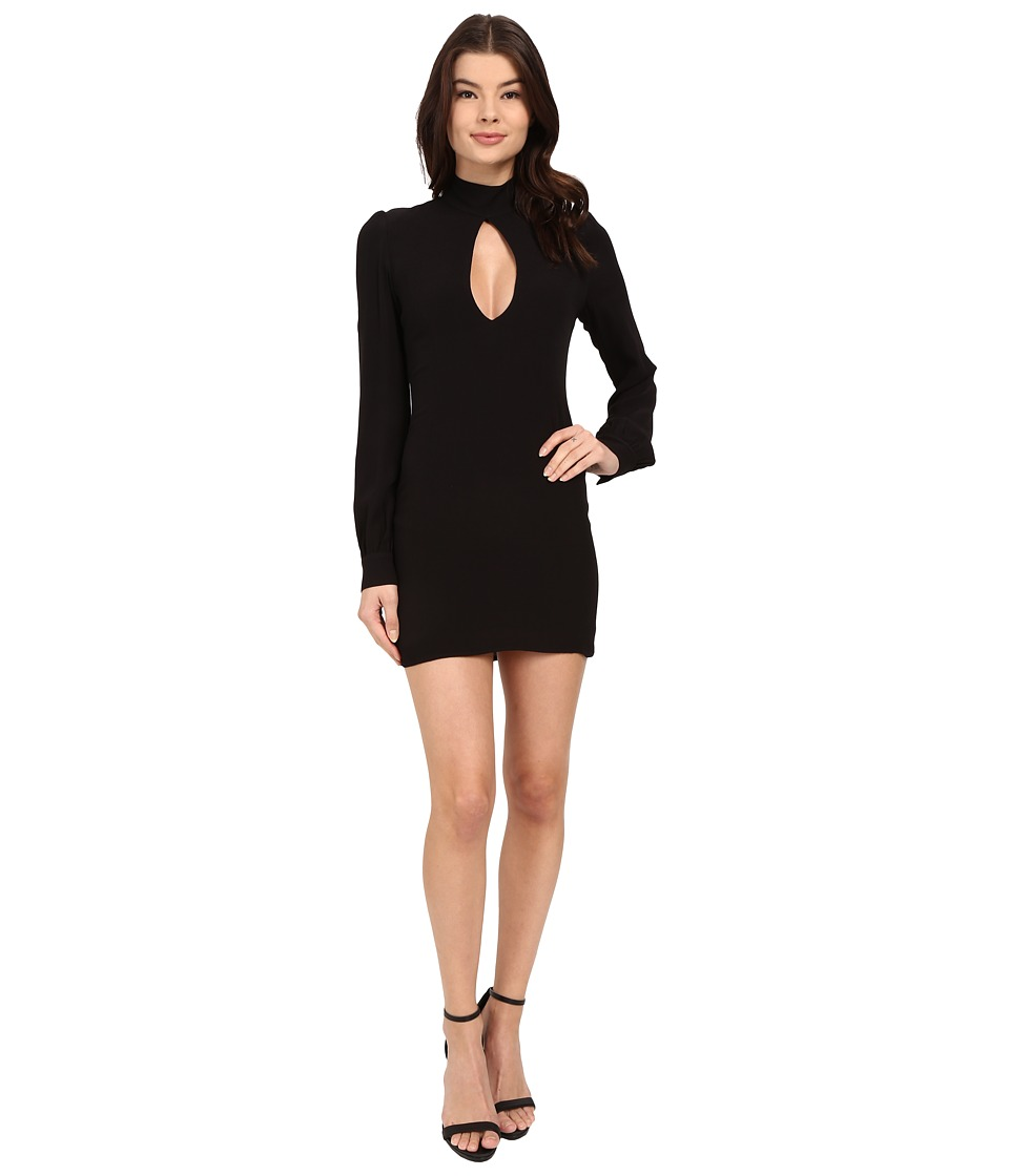 Stone Cold Fox - Victoria Dress (Black Crepe/Silk Habotai Lining) Women's Dress