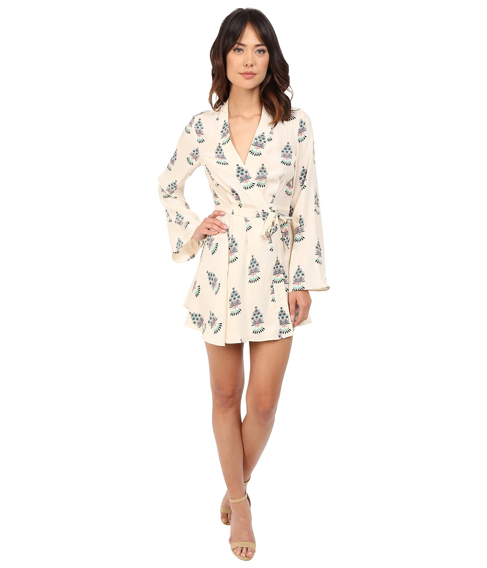 Stone Cold Fox - Hamlet Dress (Silk Satin Fleur Print) Women's Dress
