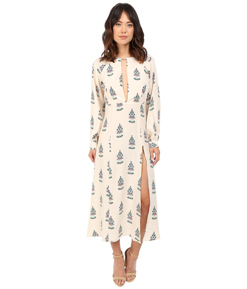 Stone Cold Fox - Paris Dress (Silk Satin Fleur Print) Women's Dress