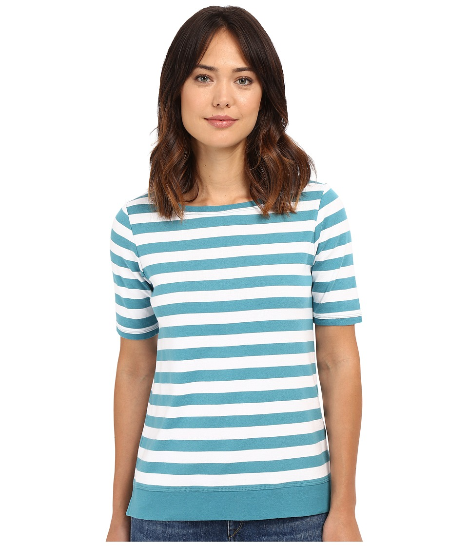 Pendleton Sunshine Stripe Rib Tee (Larkspur/White) Women