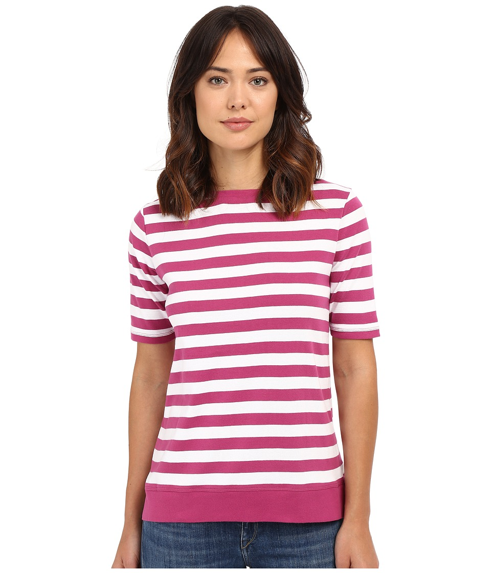 Pendleton - Sunshine Stripe Rib Tee (Magenta/White) Women's T Shirt