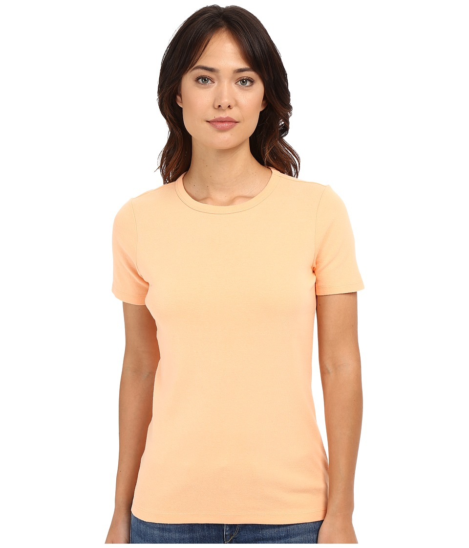 Pendleton - Short Sleeve Rib Tee (Peach) Women's T Shirt