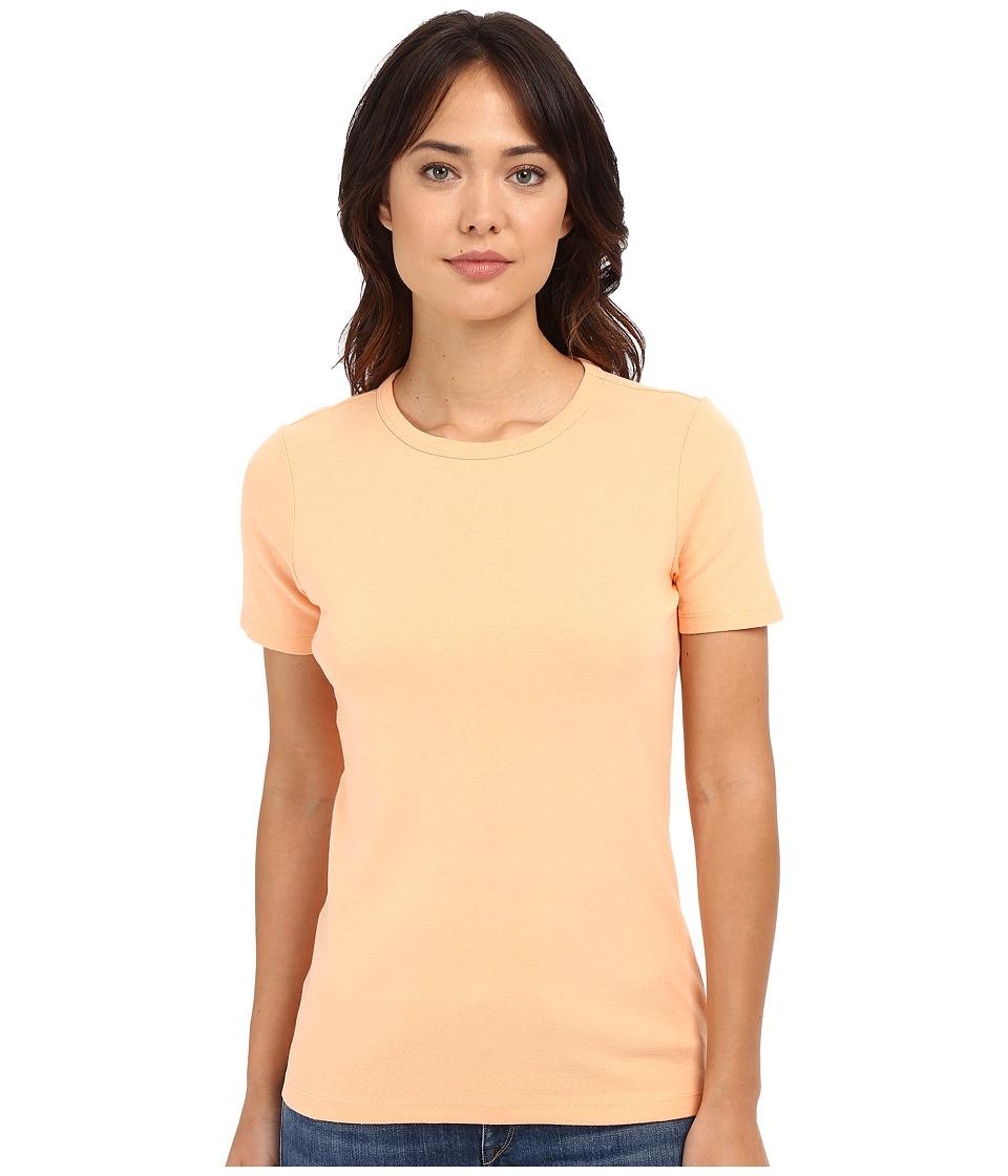Pendleton - Short Sleeve Rib Tee (Peach) Women's T Shirt