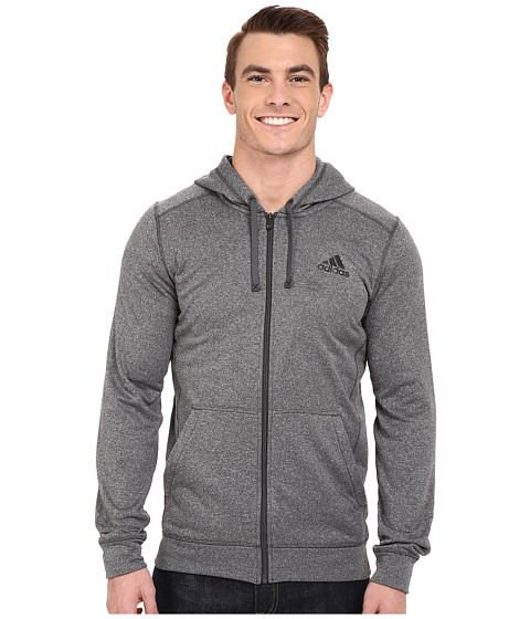 adidas Outdoor - Ultimate Full Zip Hoodie (Dark Grey Heather Solid Grey/Black) Men's Sweatshirt