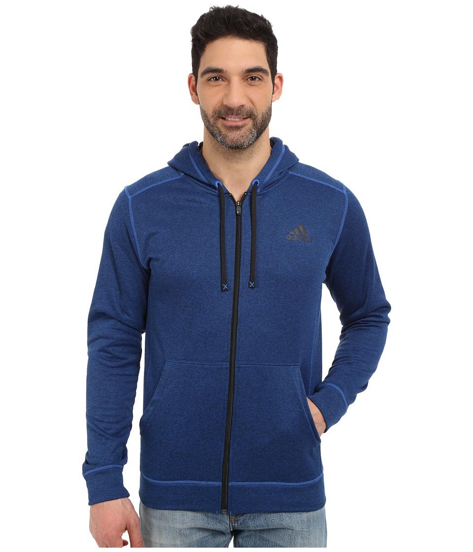 adidas Outdoor - Ultimate Full Zip Hoodie (Blue/Black) Men's Sweatshirt