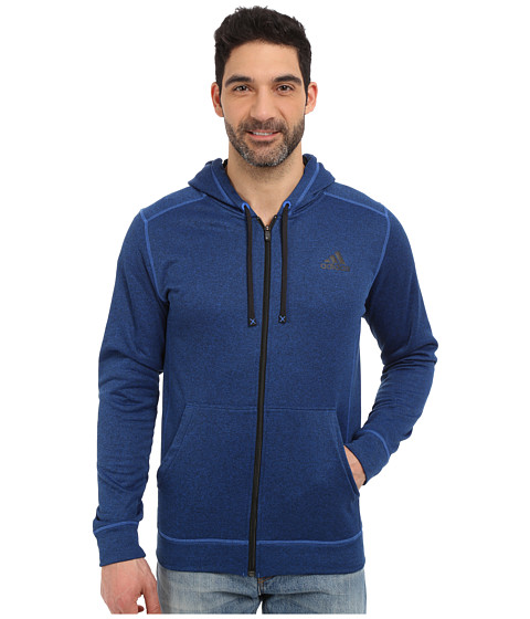 adidas Outdoor - Ultimate Full Zip Hoodie (Blue/Black) Men's Sweatshirt