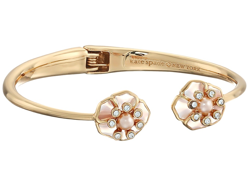Kate Spade New York - Sunset Blossoms Open Hinge Bangle (Blush Multi) Bracelet