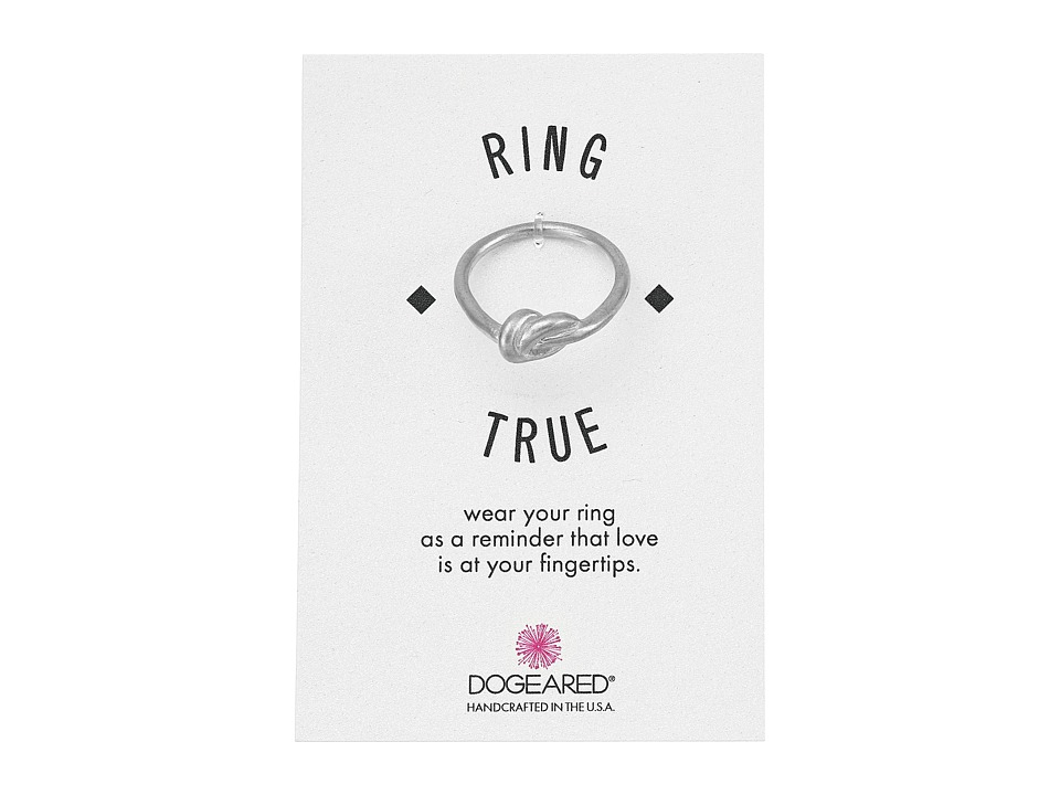Dogeared - Large Love Knot Ring (Sterling Silver) Ring