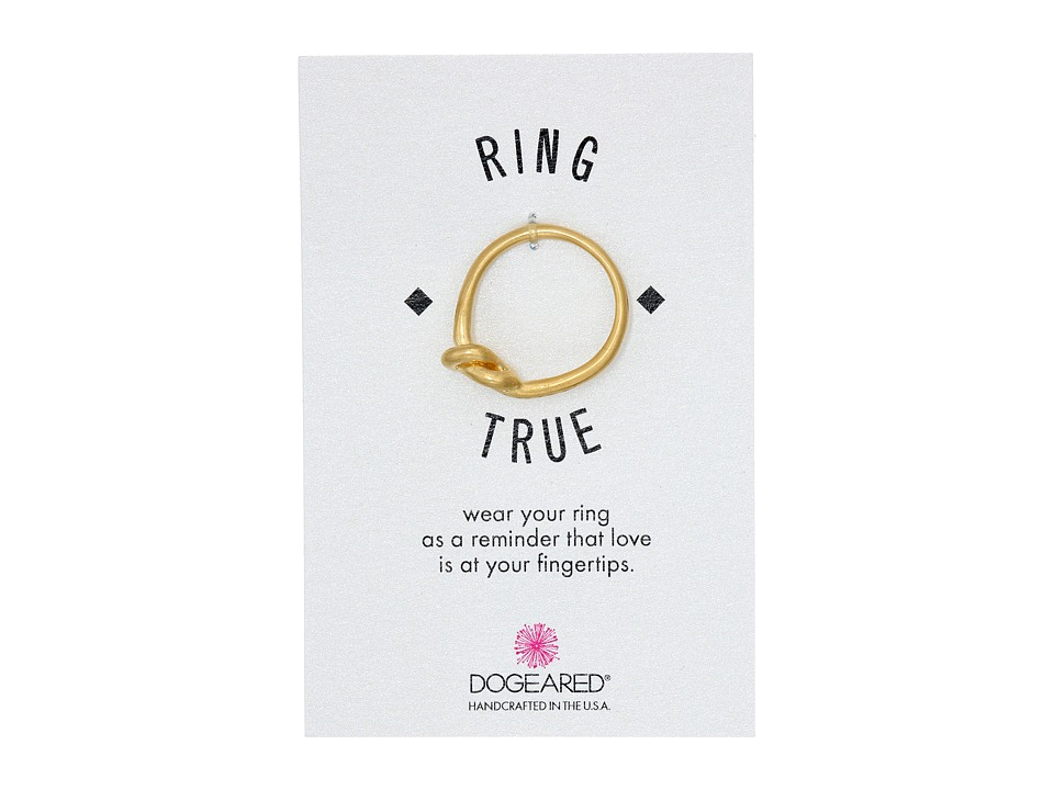 Dogeared - Large Love Knot Ring (Gold Dipped) Ring