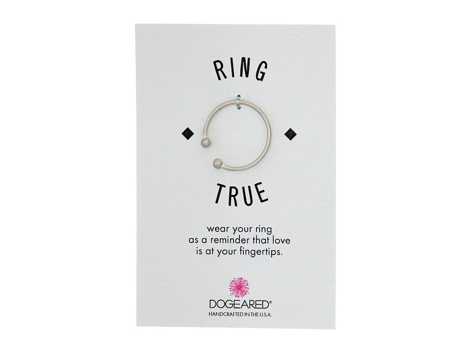 Dogeared - Small Double Ball Open Ring (Sterling Silver) Ring