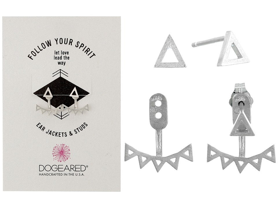 Dogeared - Follow Your Spirit Multi Triangle Ear Jacket Earrings (Sterling Silver) Earring