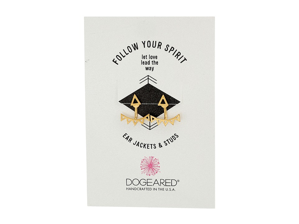 Dogeared - Follow Your Spirit Multi Triangle Ear Jacket Earrings (Gold Dipped) Earring