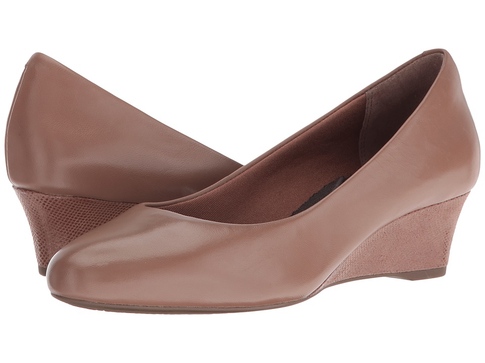 Rockport - Total Motion Catrin (Rich Taupe Leather) Women's Shoes