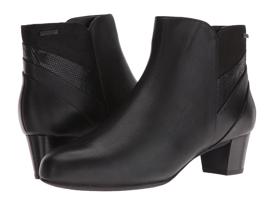 Rockport Total Motion Cherith Waterproof (Black Leather Waterproof) Women