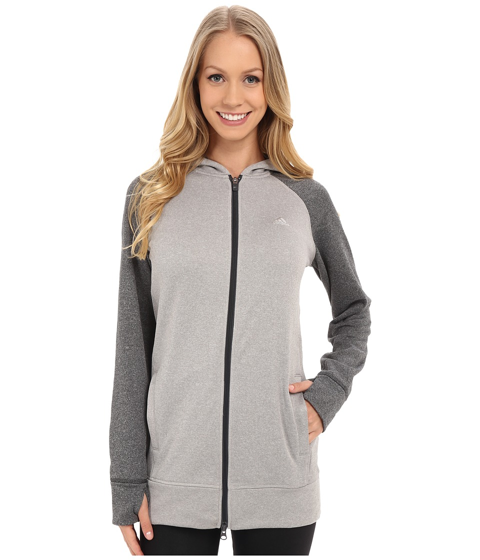 adidas Outdoor - Ultimate Full Zip Hoodie (Medium Grey Heather Solid Grey/Dark Grey Heather Solid Grey) Women's Sweatshirt