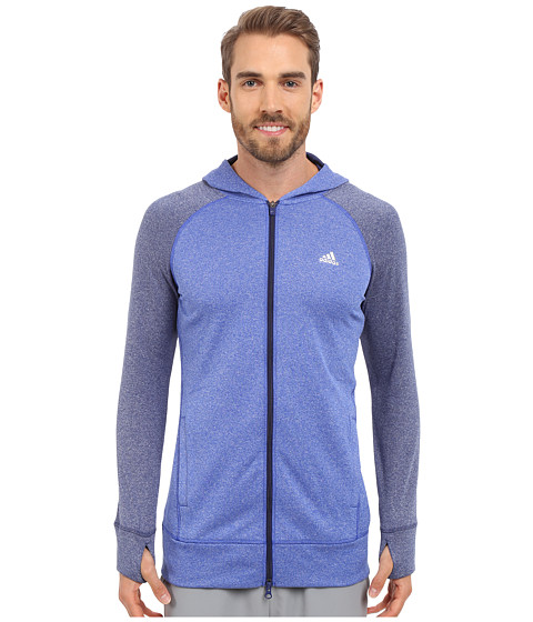 adidas Outdoor - Ultimate Full Zip Hoodie (Bold Blue/Midnight Indigo) Women