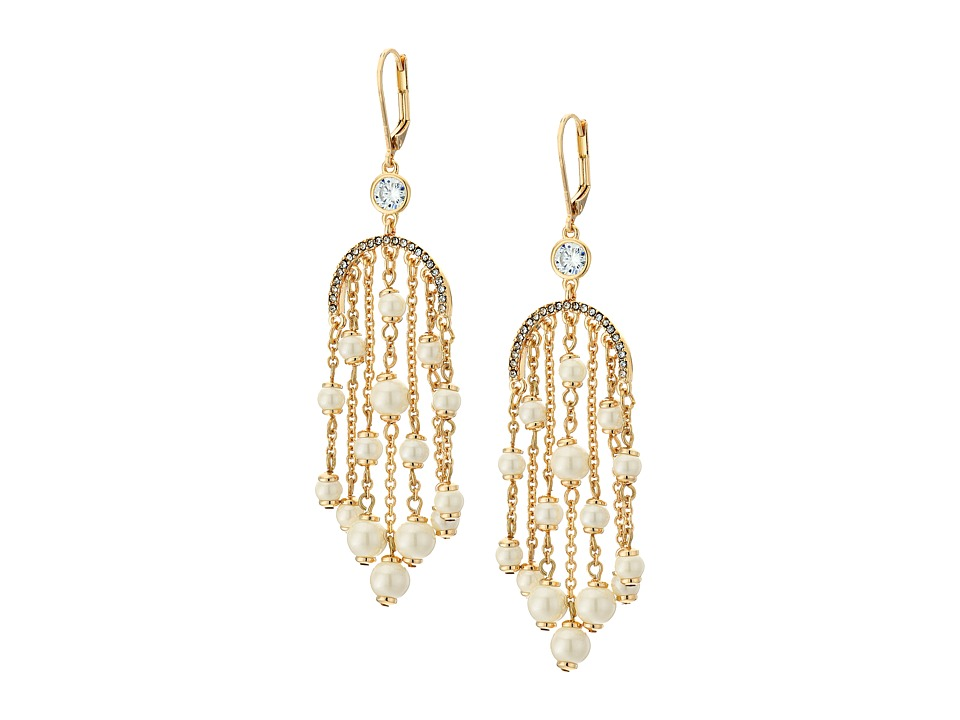 Kate Spade New York - Pearls of Wisdom Chandelier Earrings (Cream Multi) Earring