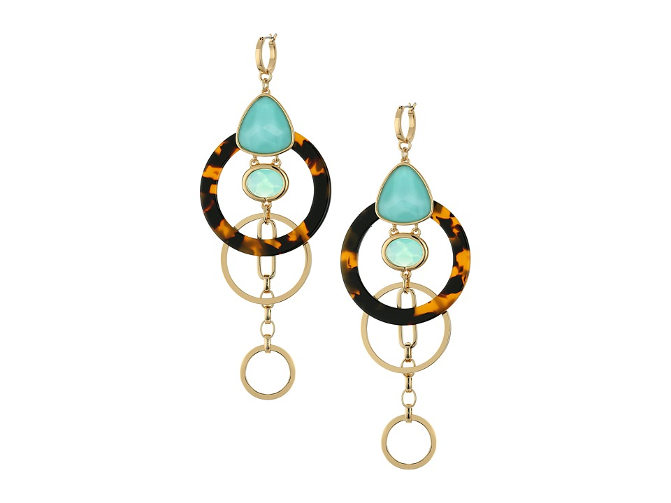 Kate Spade New York - Sun Kissed Sparkle Statement Earrings (Turquoise Multi) Earring