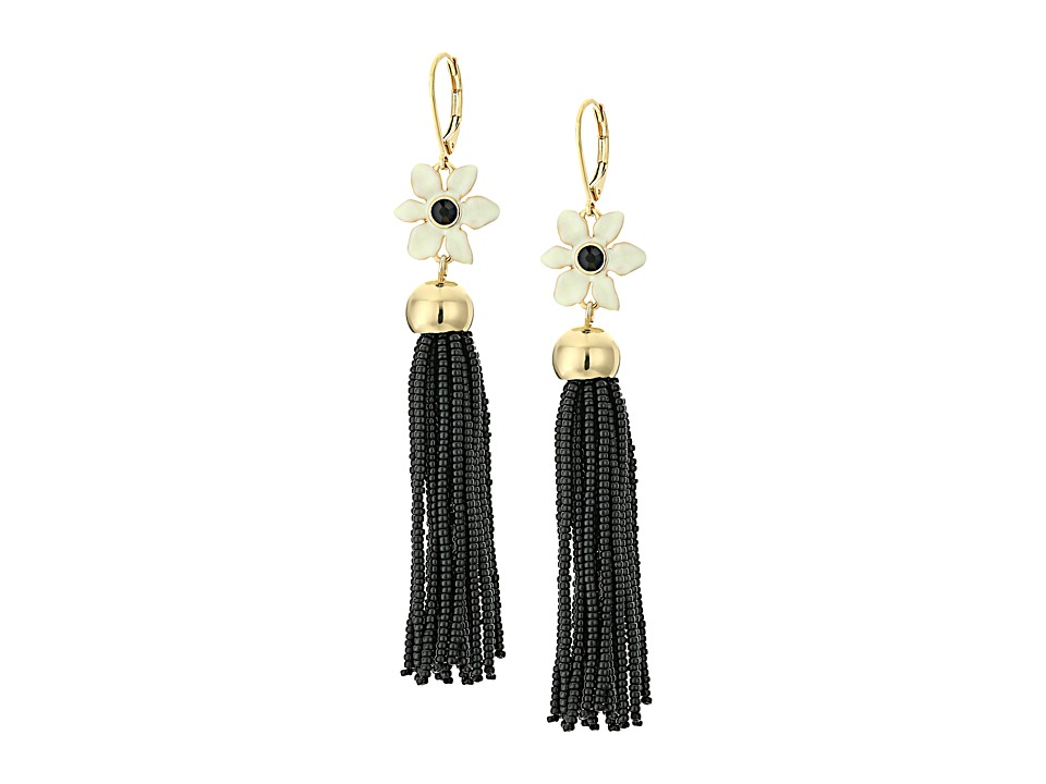Kate Spade New York - Lovely Lillies Tassel Earrings (Cream Multi) Earring