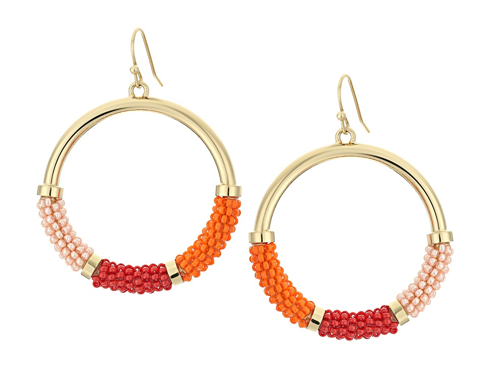 Kate Spade New York - That's a Wrap Hoop Earrings (Pink Multi) Earring