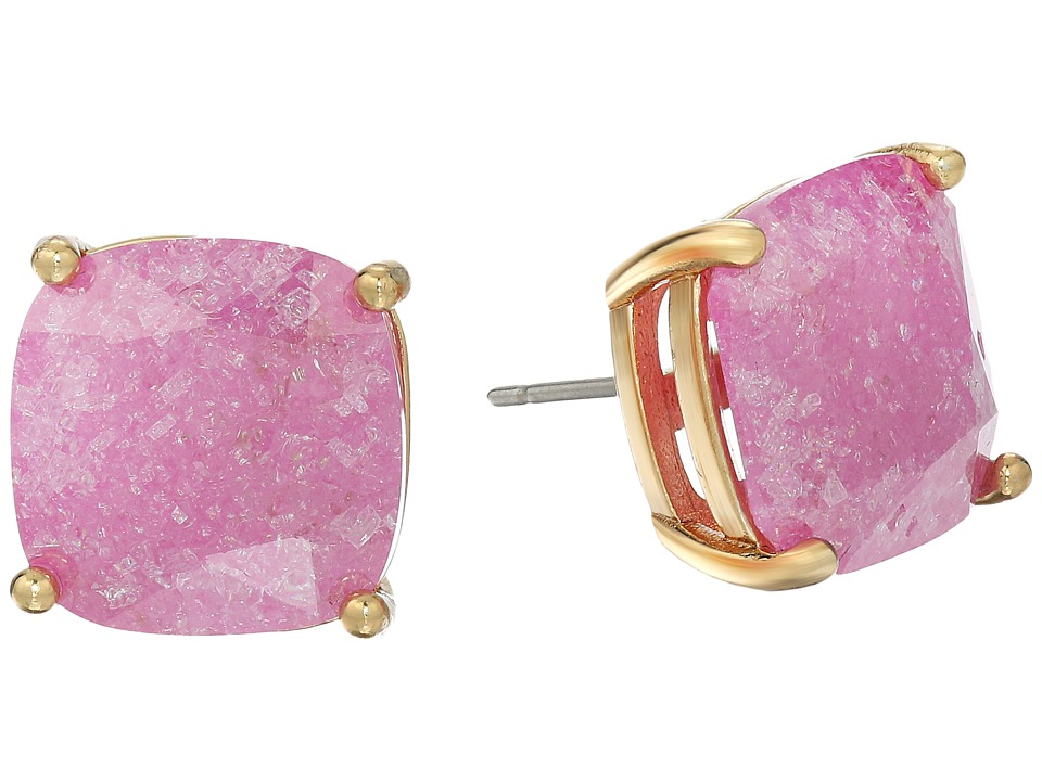 Kate Spade New York - Kate Spade Earrings Small Square Studs (Pink) Earring
