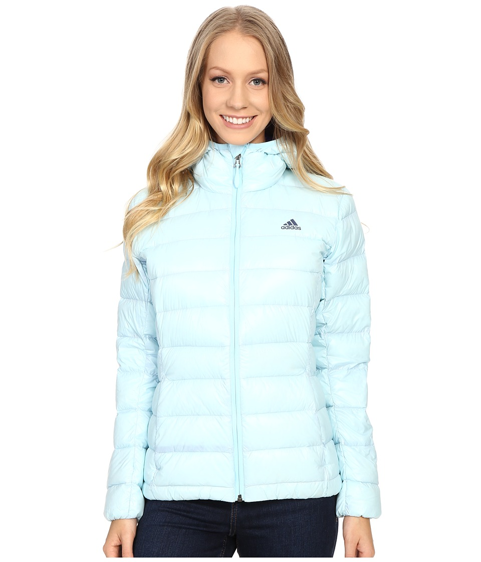 adidas Outdoor - Light Down Hoodie (Frozen Blue) Women's Sweatshirt