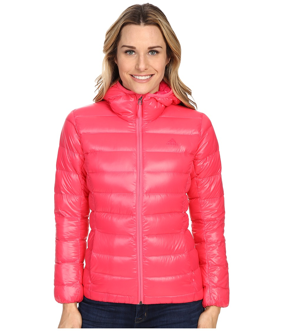 adidas Outdoor - Light Down Hoodie (Super Pink) Women's Sweatshirt