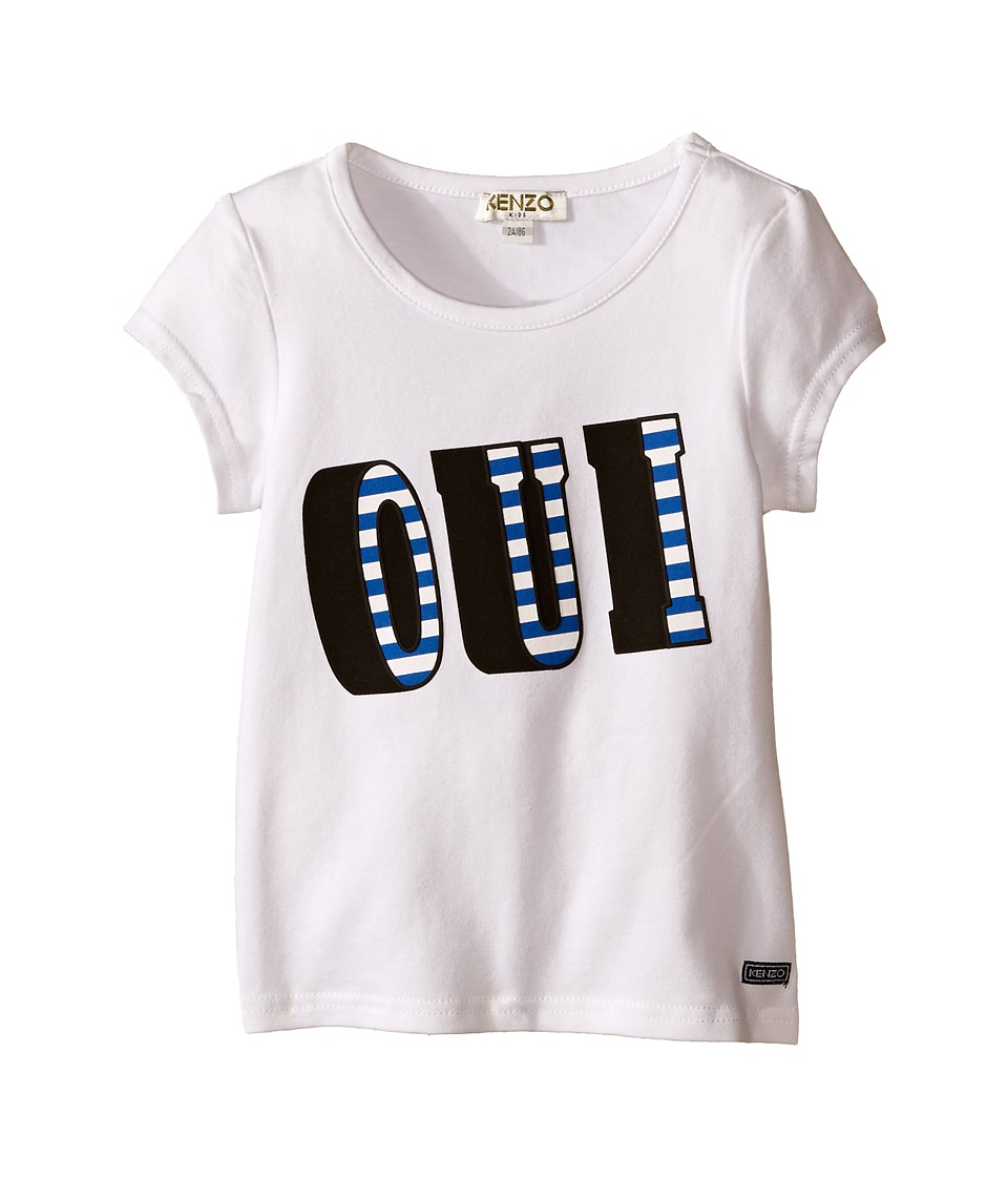 Kenzo Kids - Oui/Non T-Shirt (Toddler) (White) Kid's T Shirt