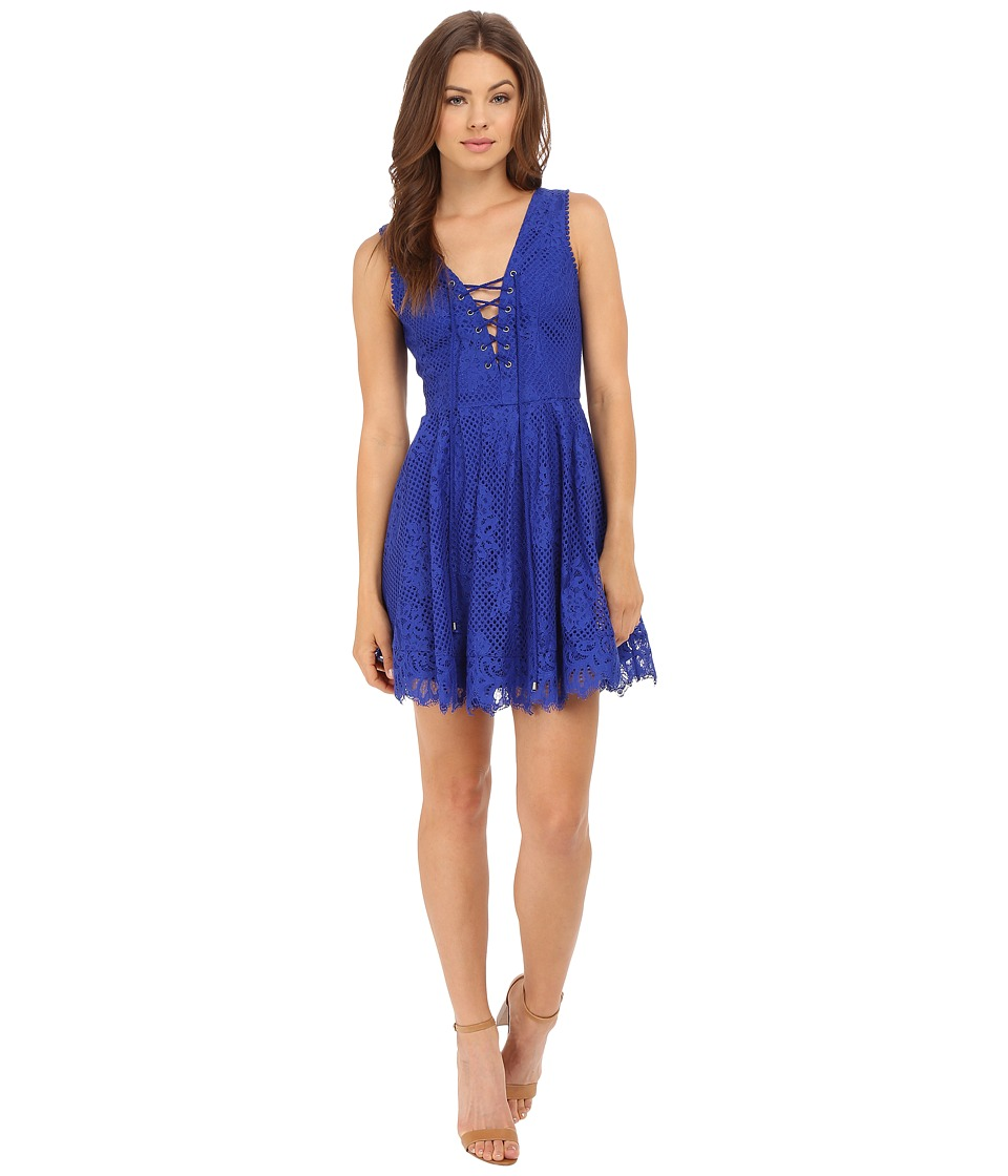 Lovers + Friends - Storm Mini Dress (Marine Blue) Women's Dress