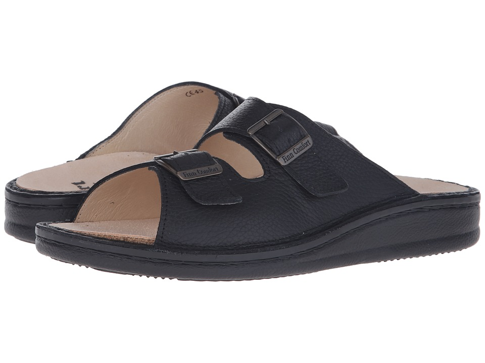 Finn Comfort - Kreta (Black) Men's Shoes