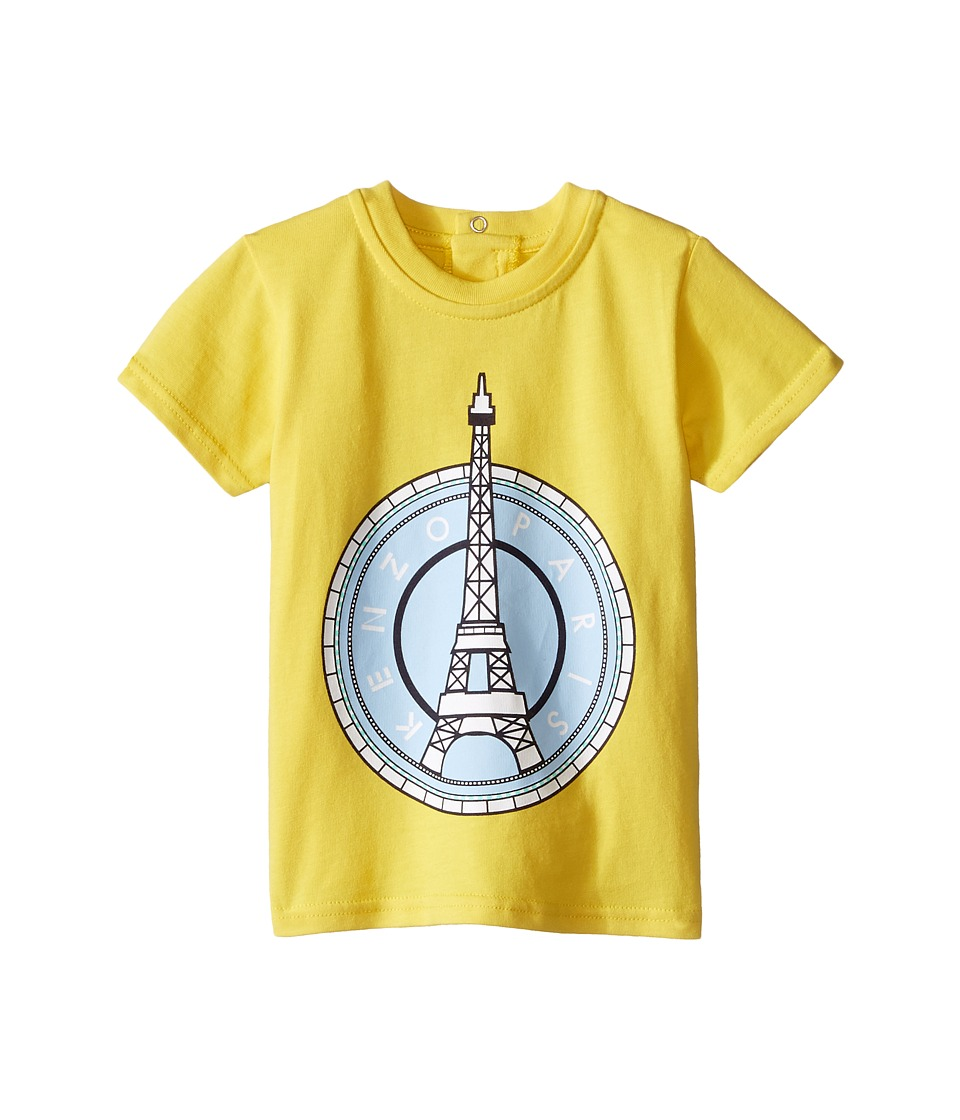 Kenzo Kids - Layette Eiffel Tower T-Shirt (Infant) (Bright Yellow) Kid's T Shirt