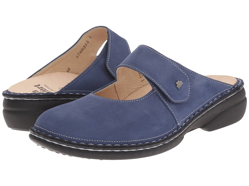 Finn Comfort - Stanford - 2552 (Denim) Women's Clog Shoes