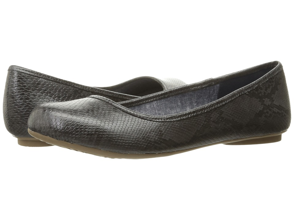 Dr. Scholl's - Friendly (Dark Grey Oppel Snake) Women's Flat Shoes