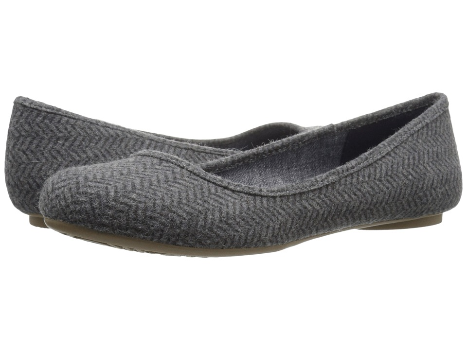 Dr. Scholl's - Friendly (Grey Herringbone Flannel) Women's Flat Shoes