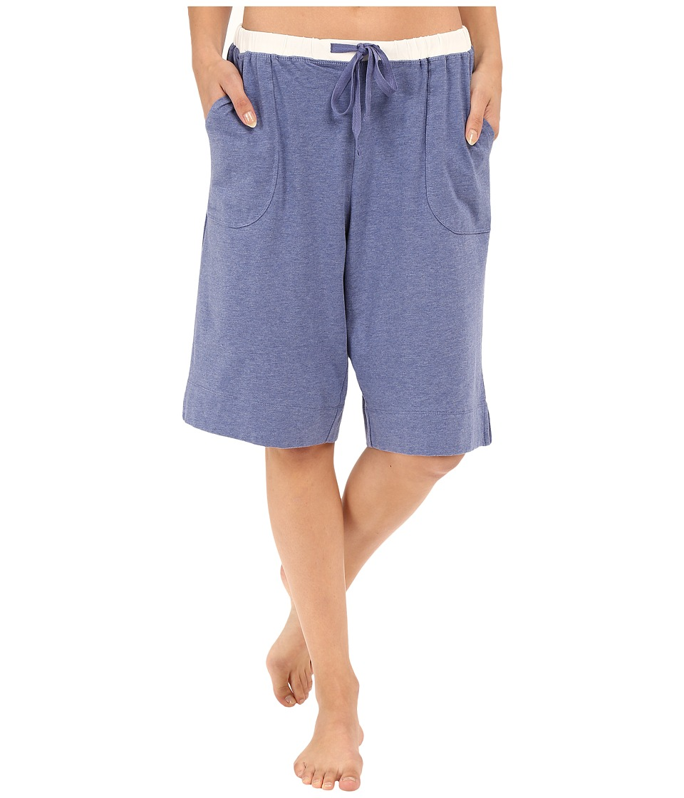 Carole Hochman - Lounge Bermuda Shorts (Blue Heather) Women