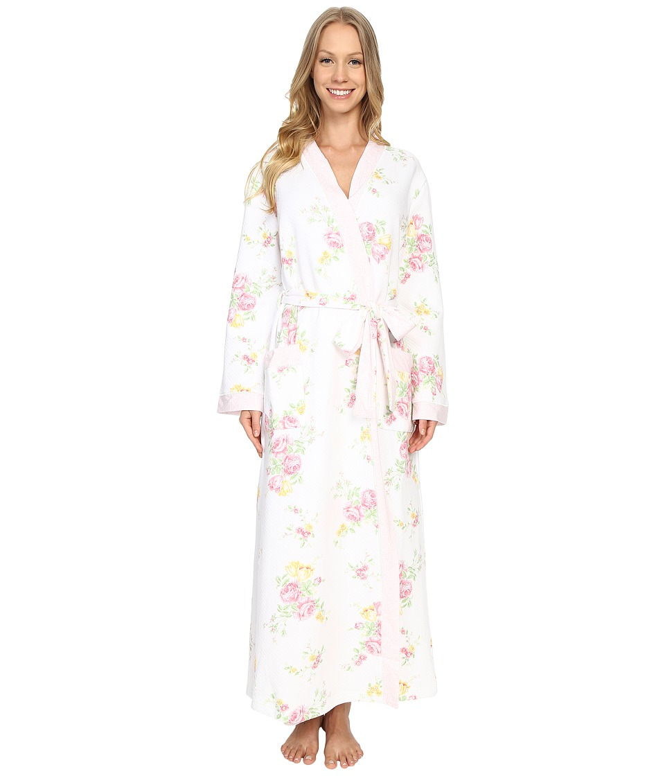 Carole Hochman - Floral Quilted Robe (Blushed Bouquets) Women's Robe