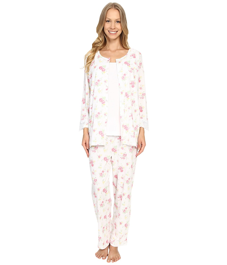 Carole Hochman - Three-Piece Capris Pajama Set (Rose Meadow) Women's Pajama Sets