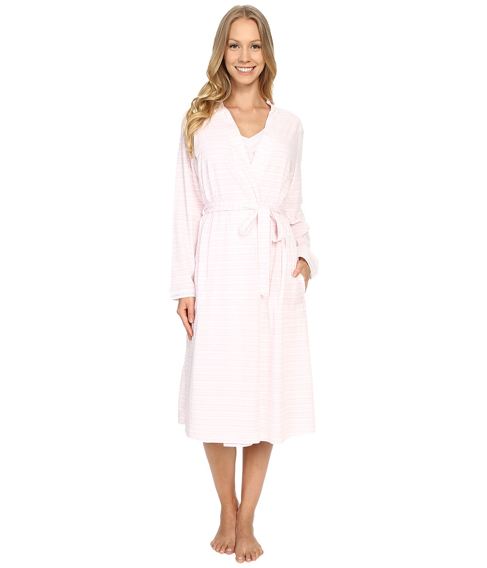 Carole Hochman - Robe Gown Set (Pink Stripe) Women's Pajama Sets