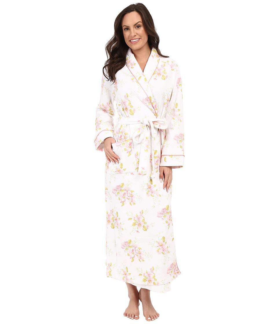 Carole Hochman - Floral Diamond Quilted Robe (Magnolia Blossom) Women's Robe