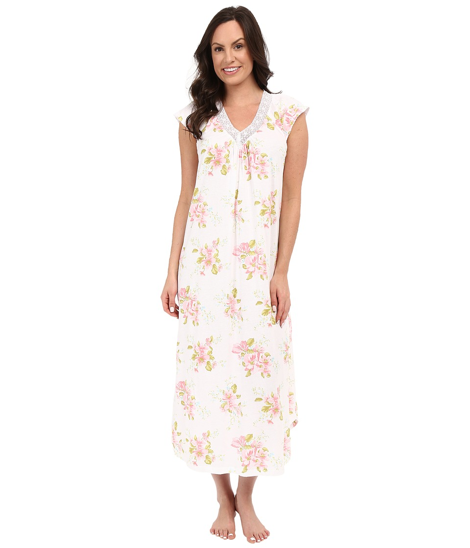 Carole Hochman - Floral Long Gown with Lace (Magnolia Blossom) Women's Pajama