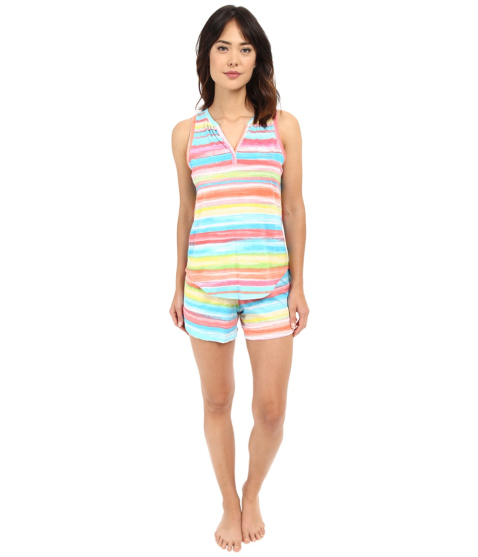 LAUREN Ralph Lauren - Sleeveless Boxer PJ Set (Stripe Multi) Women's Pajama Sets