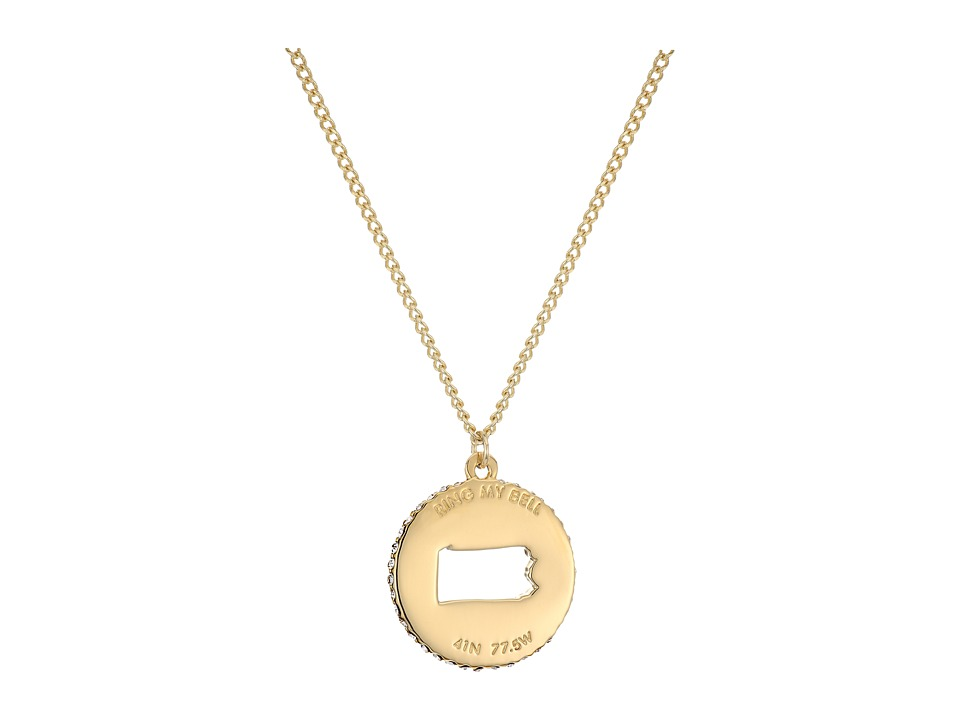Kate Spade New York - State of Mind Pennsylvania Pendant Necklace (Clear/Gold) Necklace