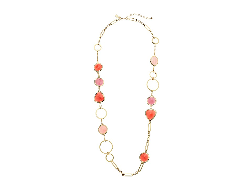 Kate Spade New York - Sun Kissed Sparkle Long Necklace (Pink Multi) Necklace