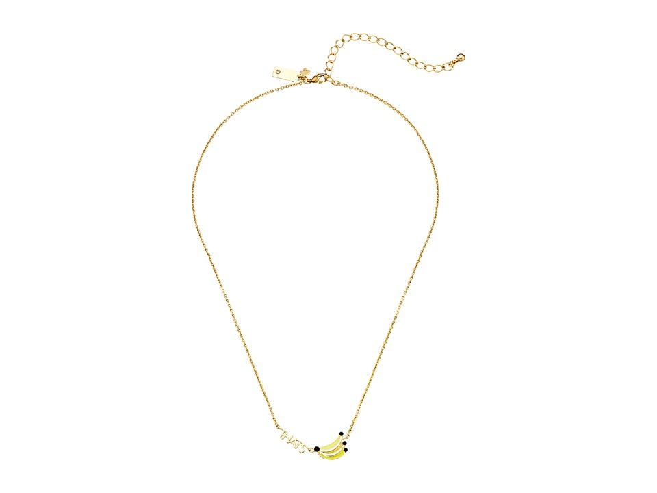 Kate Spade New York - Out of Office That's Bananas Necklace (Yellow Multi) Necklace