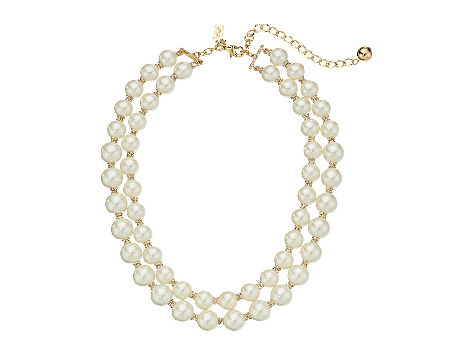 Kate Spade New York - Pearls of Wisdom Double Strand Necklace (Cream Multi) Necklace