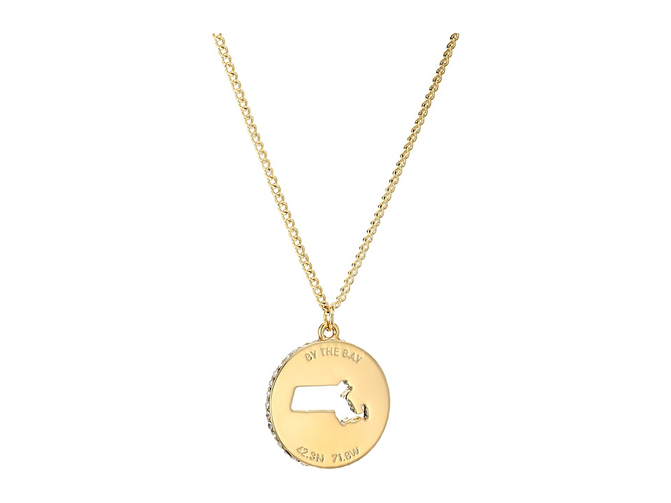 Kate Spade New York - State of Mind Massachusetts Pendant Necklace (Clear/Gold) Necklace