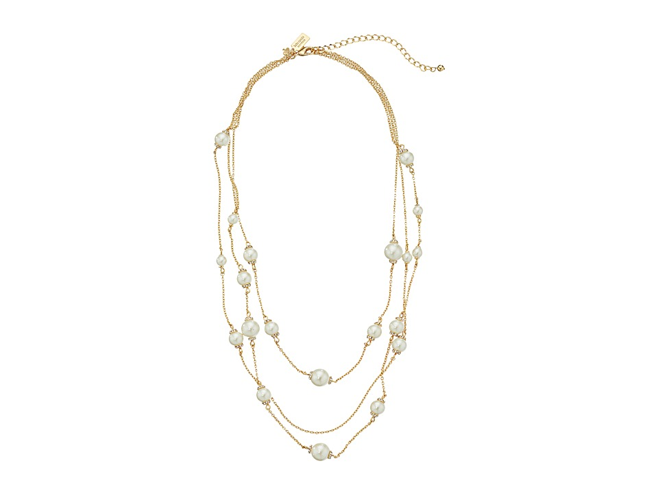 Kate Spade New York - Triple Strand Necklace (Cream Multi) Necklace