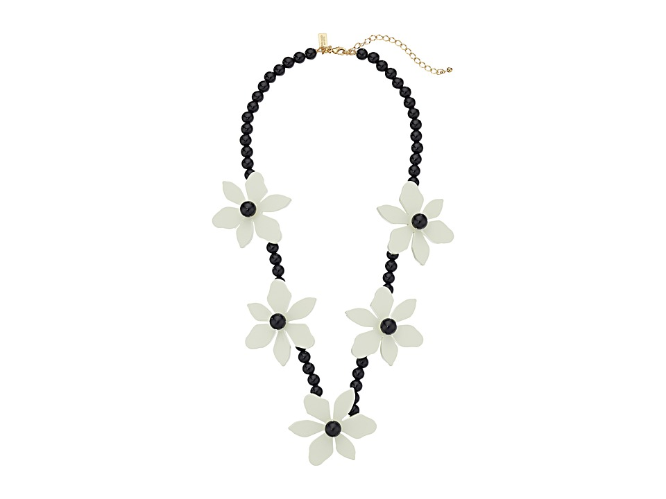 Kate Spade New York - Small Flower Necklace (Cream Multi) Necklace