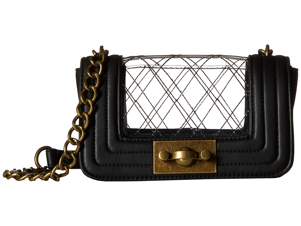 Steve Madden - Bbestie Clear (Black/Clear) Cross Body Handbags