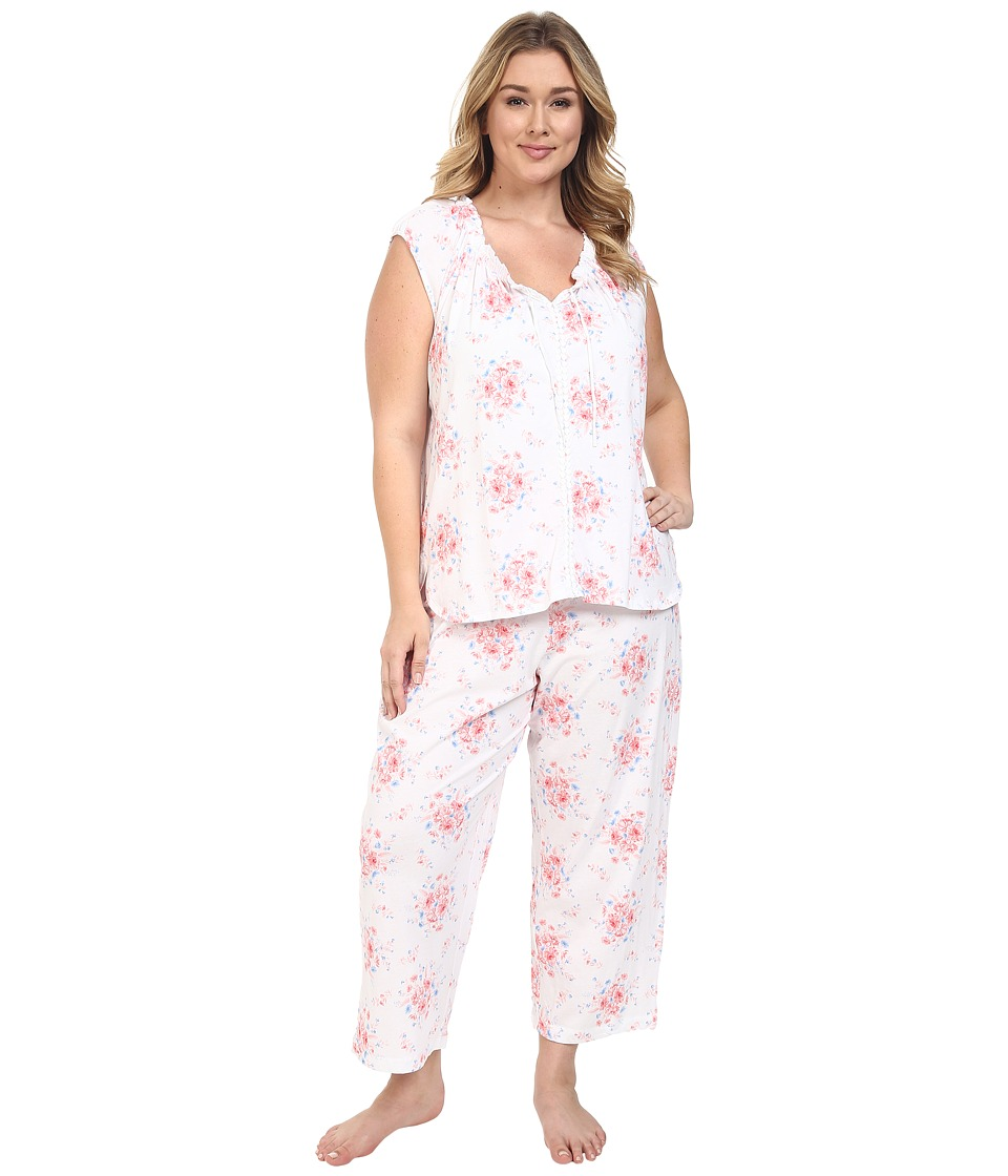 Carole Hochman - Plus Size Cotton Printed Pajama (State Meadow) Women's Pajama Sets